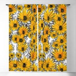 Floral invasion Blackout Curtain