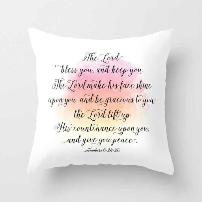 The Lord Bless You And Keep You The Lord Make His Face Shine Upon Stunning Gracious Home Decorative Pillows