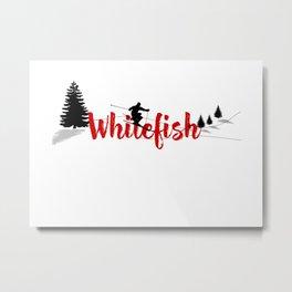 Ski at Whitefish Metal Print