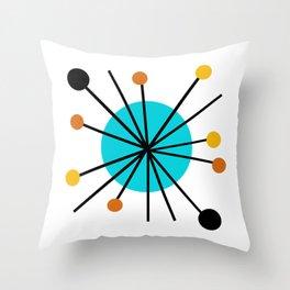MCM Burst in white Throw Pillow