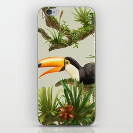 Toco Toucan vintage illustration. iPhone Skin