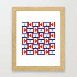 Mix of flag: canada and israel Framed Art Print