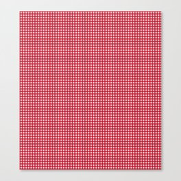 Classic Rockabilly Gingham in Apple Red Canvas Print