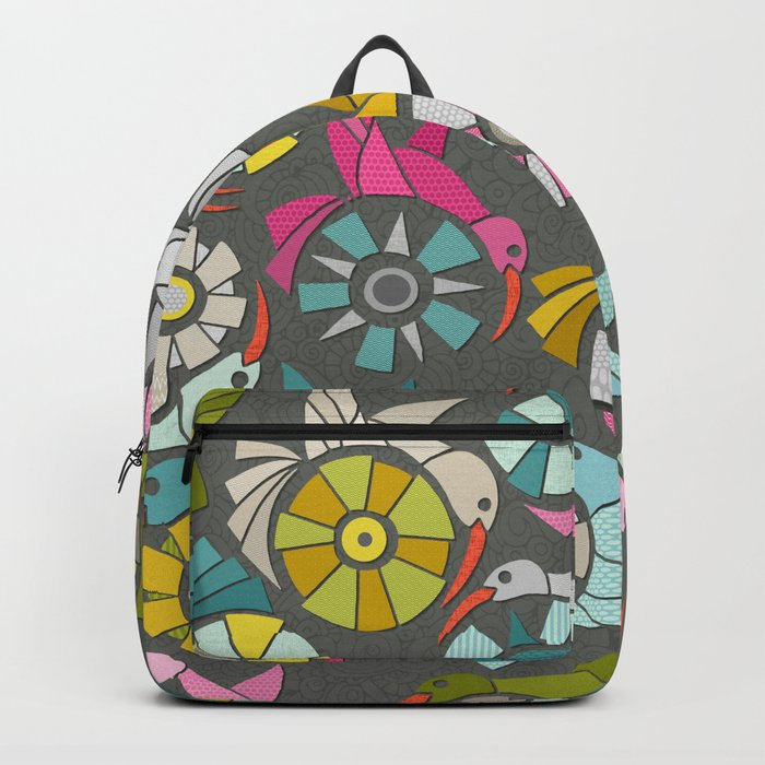 paper sunbirds graphite Backpack