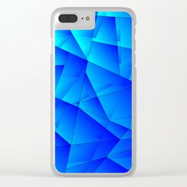 Bright sea pattern of heavenly and blue triangles and irregularly shaped lines. Clear iPhone Case