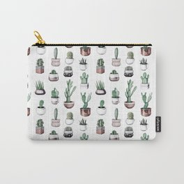 Cactus + Succulents Rose Gold Pattern by Nature Magick Carry-All Pouch