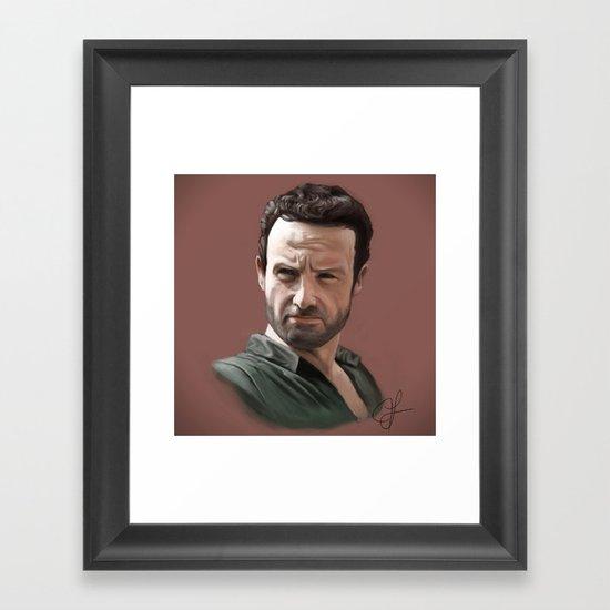 Rick Grimes Framed Art Print
