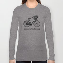Albert Einstein - Life is Like Riding a Bicycle Long Sleeve T-shirt