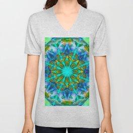 Abstract Flower ZZ SSS Unisex V-Neck