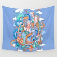 kpop Wall Tapestries featuring George's place by Polkip