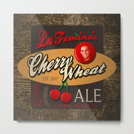 Cherry Wheat Ale Metal Print