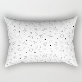 Reversed Zodiac Constellation Rectangular Pillow