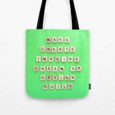 Make Create Imagine Tote Bag