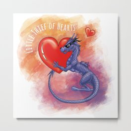 Little Thief of Hearts Metal Print