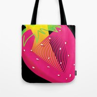strawberry Tote Bags featuring Strawberry  by deedesigns