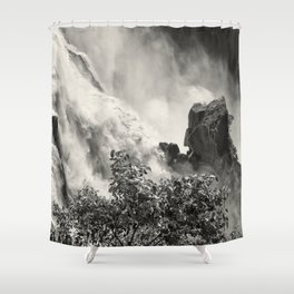 Strength against the waterfall Shower Curtain