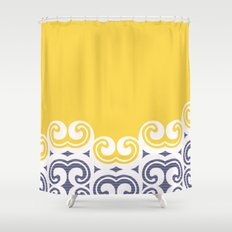 Modern Filigree  Shower Curtain