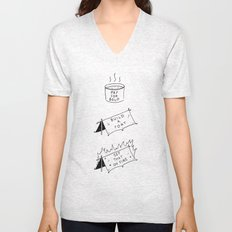 Pay for soup, build a fort, set that on fire Unisex V-Neck