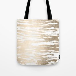 White Gold Sands Paintbrush Tote Bag