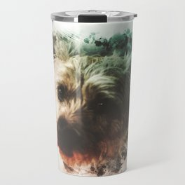 Cairn Terrier Digital Watercolor Painting Travel Mug