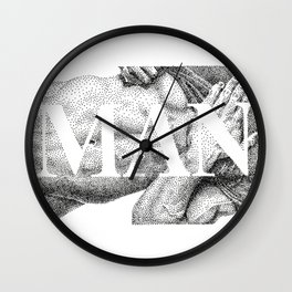 MAN - NOODDOODs  Wall Clock