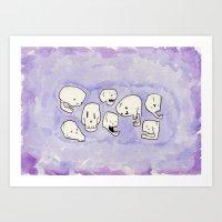 Skullies Art Print