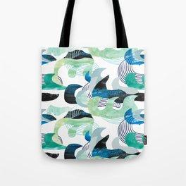 Ocean waves - paper collage Tote Bag