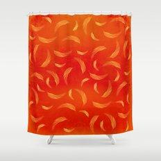 Orange feathers Shower Curtain