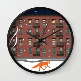 Winter in New York Wall Clock