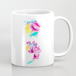Watercolour Semi-Colon Coffee Mug
