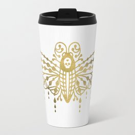Death's Head Hawkmoth – Gold Palette Travel Mug