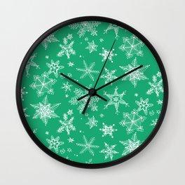 Snow Flakes 04 Wall Clock