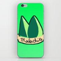 malachite iPhone & iPod Skins featuring Malachite by El Jones