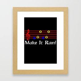 Make It Rain! - Song Of Storms (The Legend Of Zelda: Ocarina Of Time) Framed Art Print