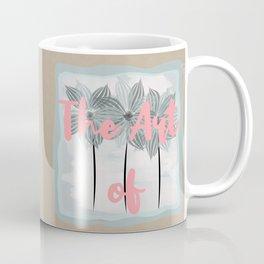 Mint Blue Watercolor Spring Flowers Coffee Mug