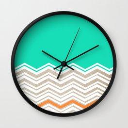 Beachy Chevron Wall Clock