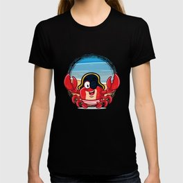 Funny Pirate Crab with Eye Patch T-shirt