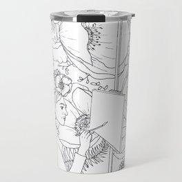 Open: Frida at her Easel Travel Mug