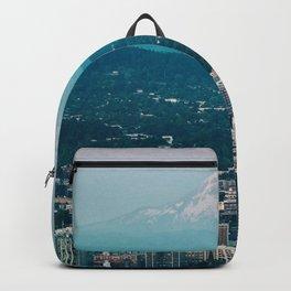 Portland Skyline with Mount Hood Backpack