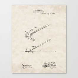 Weeding Implement Vintage Patent Hand Drawing Canvas Print