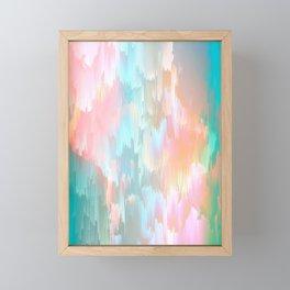 Candy Rainbow Glitch Fall #abstractart Framed Mini Art Print