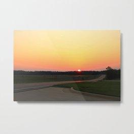 Statesville Sunset Metal Print