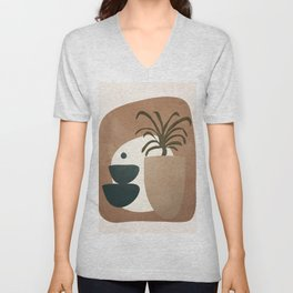 Abstract House Decoration Unisex V-Neck