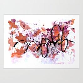 Asemic 2 Art Print
