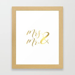 Mr Mrs Love Prints. Wedding Art Prints. Real Gold or Silver Foil Print. His and Hers Wall Art. Framed Art Print