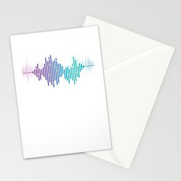 Sound Wave Technician Technical Recording Music Mixer Gift Audio Engineer Stationery Cards