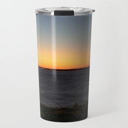 Jekyll Island Bridge at sunset Travel Mug