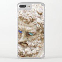 Vaporwave Socrates Aesthetics Clear iPhone Case