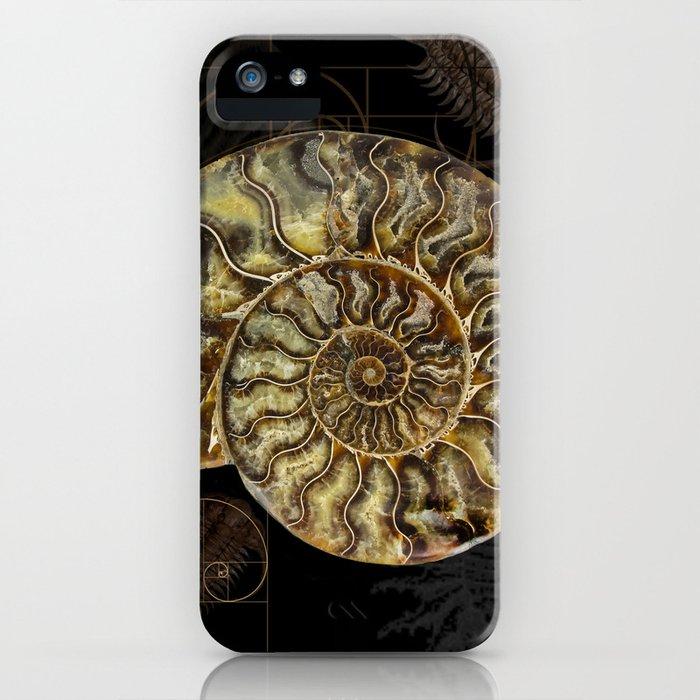 the best attitude e4fba a966e Ammonite Trilobite Fibonacci Spiral iPhone Case