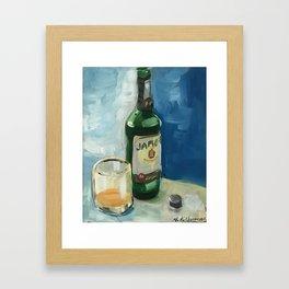 Collin's Jameson Whiskey Framed Art Print